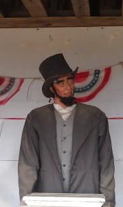 Creepy Abraham Lincoln at 1880 Cowboy Town