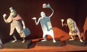Hitchiking Ghost maquettes at 2013 Disney D23 Expo