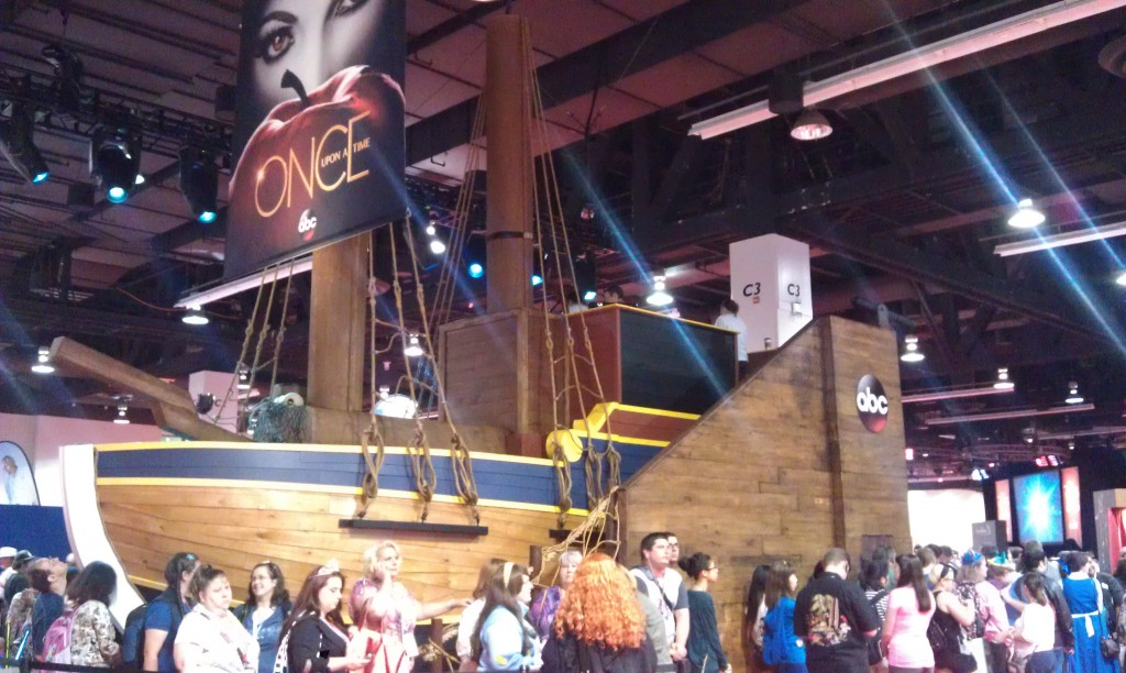 "These people waited forever at the D23 Expo to see some props from ""Once""."