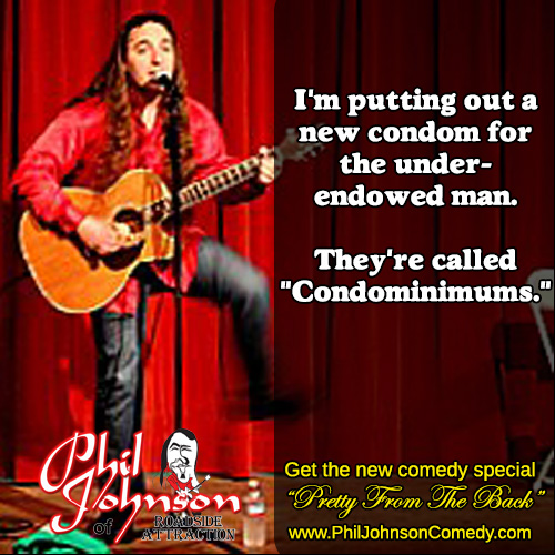 """Comedy from """"Pretty From The Back"""" by Phil Johnson"""