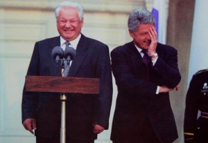 Yeltsin totally farted.  Gotta be.
